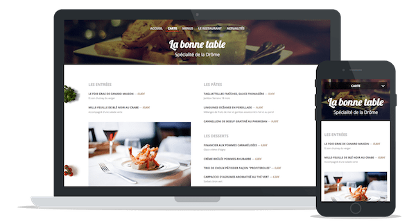 "Sample website of a restaurant using the theme ""Italian"""